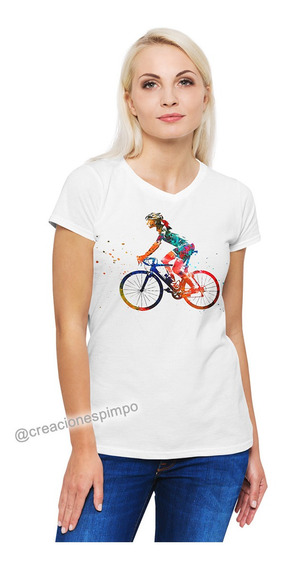 Camiseta Mujer Ciclista Explosion Moda Polialgodon Cpr2
