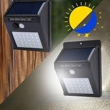 Duas Lâmpadas Energia Solar 30 Leds Cada C/ Sensor De Pres.