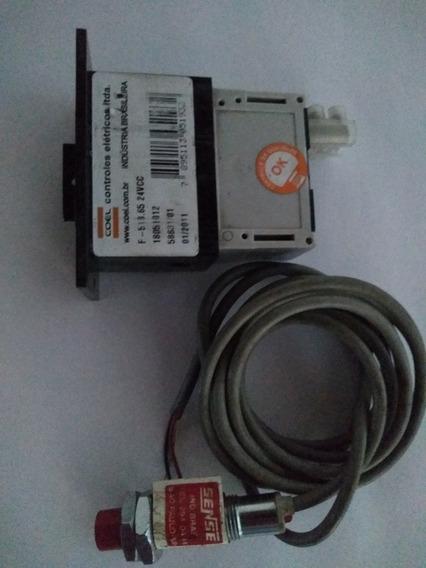 Sensor Sense Npn + Contador Totalizador Coel Analógico 24v