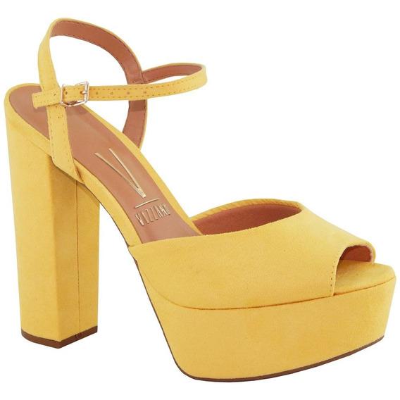 Sandália Vizzano Salto Amarelo Ajuste 6282.100 Frete Grátis
