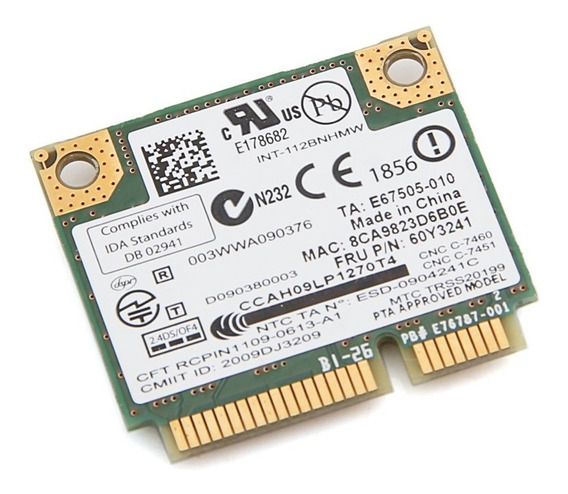 Mini Pci Wifi Notebook Hp Dv7-4000 Dv7-4295us 112bnhmw