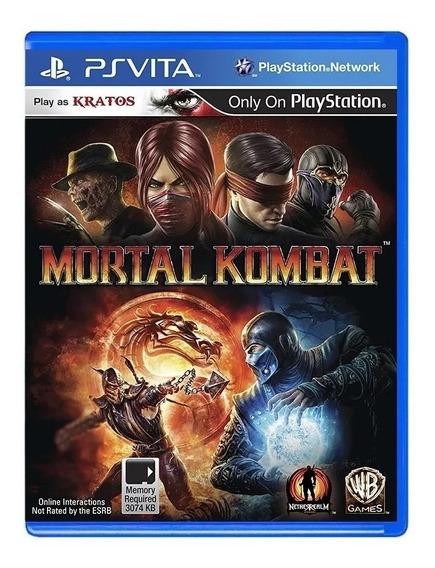 Jogo Mortal Kombat Kratos Ps Vita Lacrado Novo Original