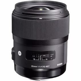 Lente 35mm F1.4 Dg Hsm A Sigma Envio Imediato + Novo