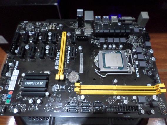 Placa Mãe Mineração Biostar Tb250-btc Pro + Processador