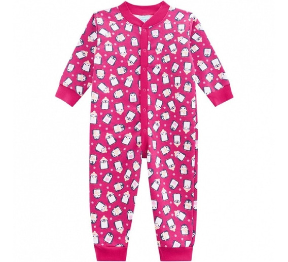 Pijama Infantil Kyly Moletom Tipo Macacão