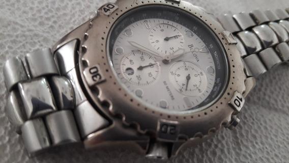 Relógio Bulova Marine Star, Fundo Branco, Impecavel.