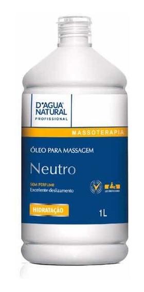 Óleo Para Massagem Neutro Massagista 1 Litro Natural