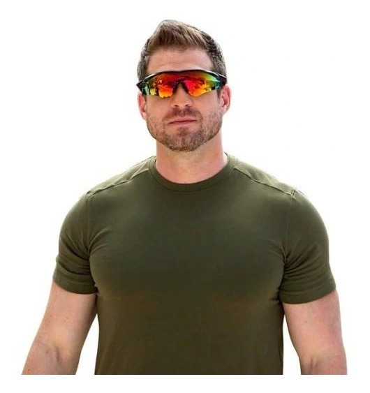 Óculos De Sol Estilo Militar Anti Brilho, Filtra, Realça Cor