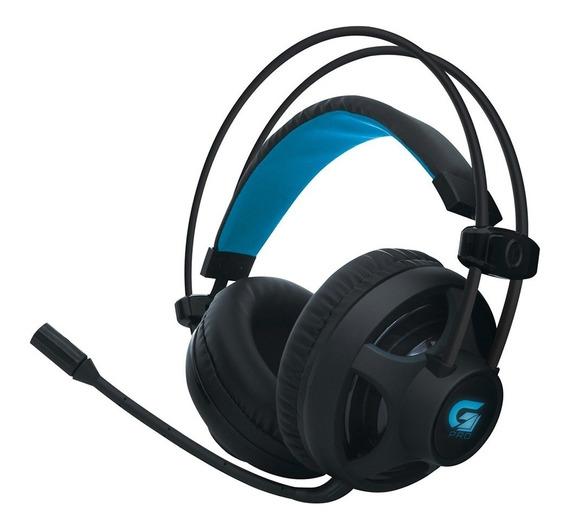 Headset Gamer Fortrek Pro H2 P2 Usb Led Azul Fone De Ouvido
