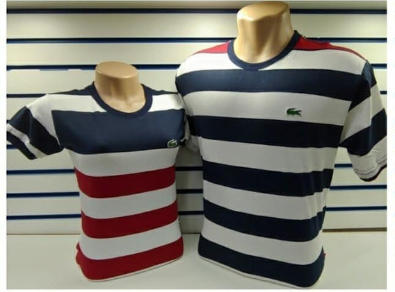 Kit Camisetas Feminino E Masculina Lacoste A Pronta Entrega
