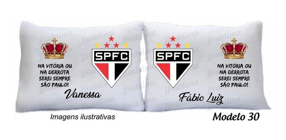 Kit 02 Fronhas São Paulo Time Seu Nome
