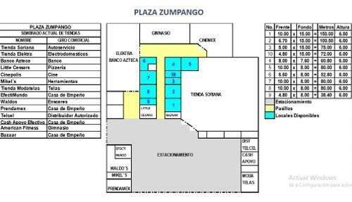 Local En Renta En Plaza De Zumpango
