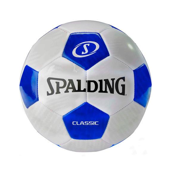 Pelota Futbol Tornado Clasic Blanco Con Azul - Spalding