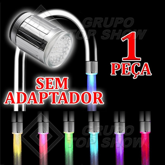 Adaptador Bico De Torneira Luz Led Multicolorida - 24mm