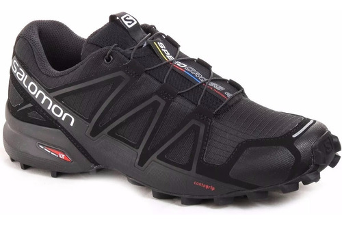 Zapatillas Salomon Speedcross 4 Negras Trail Running Hombre - $8.790,00