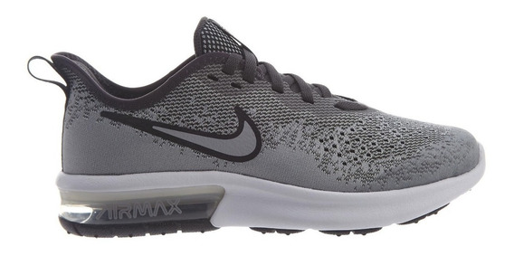 Tenis Nike Mujer Gris Nike Air Max Sequent 4 Gs Aq2244003
