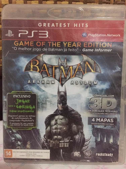 Batman Arkham Asylum - Para Ps3 Ótimo Estado