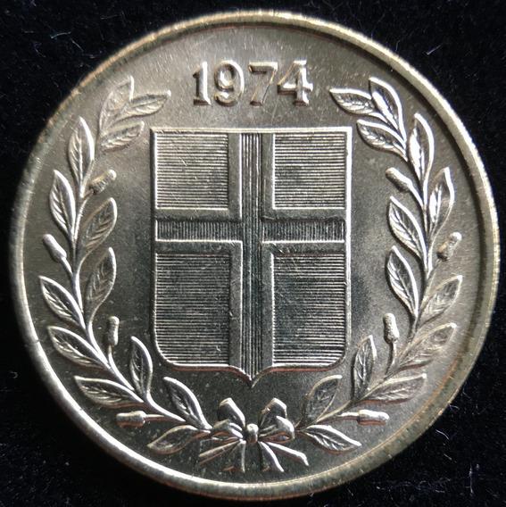 Islandia, 50 Aurar, 1974. Brillante Sin Circular