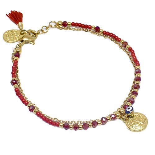 Tori Collections Pulsera Con Chapa De Oro De 14k Para Mujer