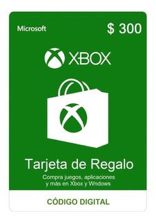 Tarjeta De Regalo $300 Pesos Xbox One