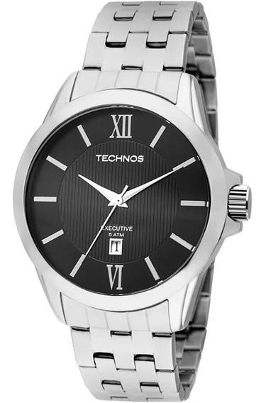 Relogio Technos 2115kng/1p Masculino Aço Calendário Cristal
