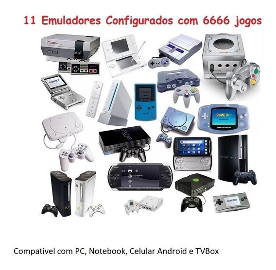 11 Emuladores Configurados Com 6666 Jogos