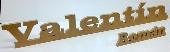 Letras Fibrofacil Grandes 30cm 3 Mm Espesor Fabrica Mdf
