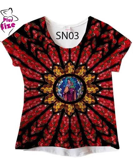 Blusa Feminina Plus Size Nossa Senhora Senhora Sn03
