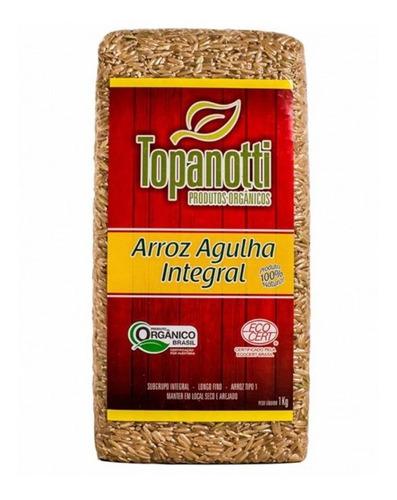 Imagem 1 de 1 de Arroz Agulha Integral Orgânico Topanotti 1kg Kit Com 5un.