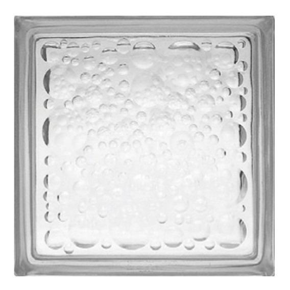 Vidrioblock 19x19x8 Transparente (burbuja)(caja 6 Pzas)