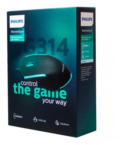 Mouse Gamer Philips Momentum 1200dpi G314