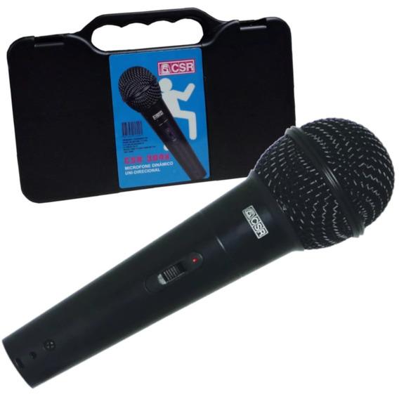 Microfone Dinâmico Com Fio Csr-304x-voz Violão-frete Grátis