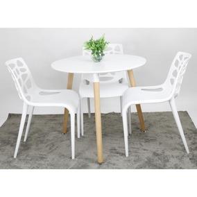 Conjunto Mesa Kendy Planeta Casa Com 3 Cadeiras Young Branco