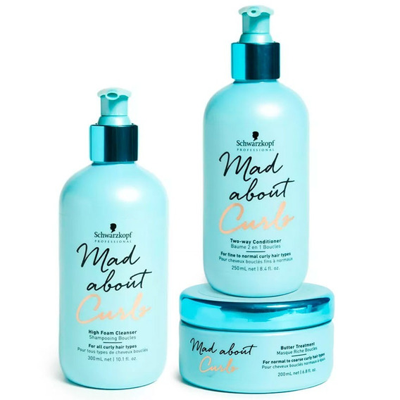 Schwarzkopf Mad About Curls Shampoo Fino + Enjuague+ Mascara