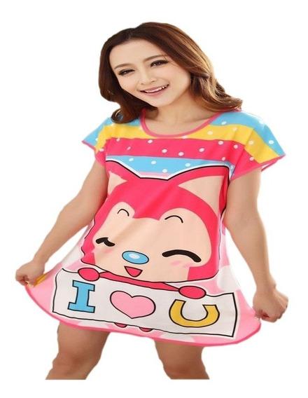 Camison Kawaii Animalitos Pijama Conejo Vaca Rana