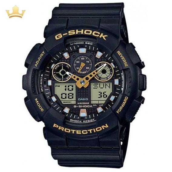 Relógio Casio G-shock Masculino Ga-100gbx-1a9dr Com Nf
