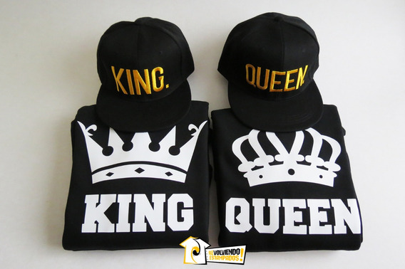 Pack Poleron King & Queen + 2 Jockey Bordados (envio Gratis)