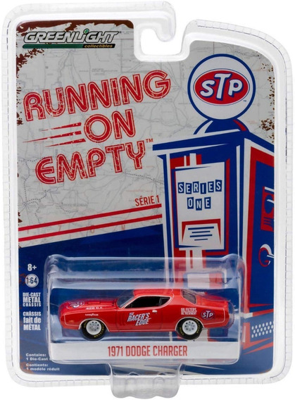 Greenlight Stp 1971 Dodge Charger Mide 8 Cm. Escala 1/64