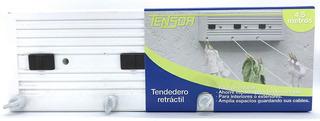 Tendedero Retractil, 3 Lineas De 4,5 Metros De Largo
