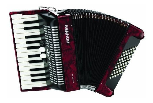 Imagen 1 de 1 de Acordeones Hohner Br48rn 26key Acordeon Piano 48 Rojo Bajo