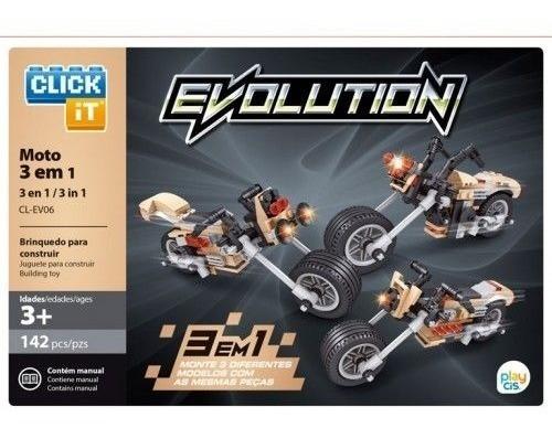 Bloco De Montar Click It Cis 3 Em 1  Evolution Moto