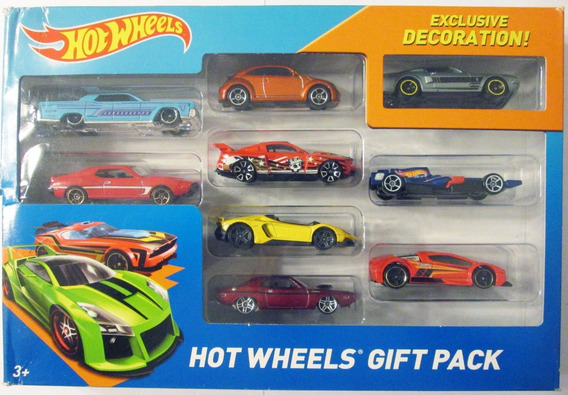 Hot Wheels Paquete De 9 Carritos, Escala 1/64.