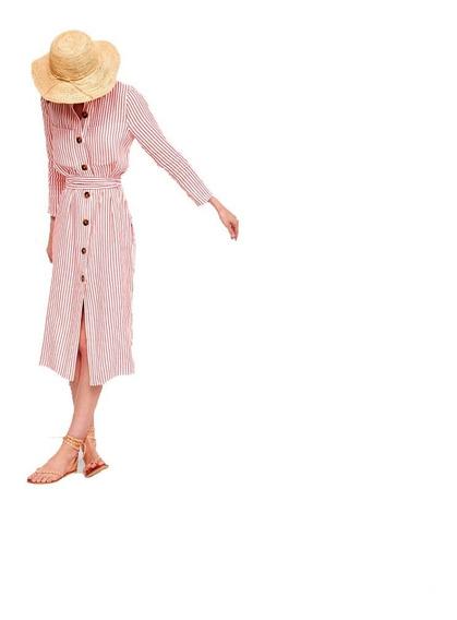 Vestido Camisero Mujer Primavera Verano Fiesta Casual 10%off