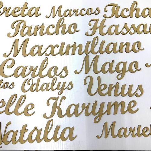Nombres Letra Ligada De Mdf De 10 Cm Altura X 3 Mm Grosor