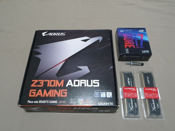 Kit Core I7 8700k + Placa Mãe Aorus Z370m Gaming + 16gb Ddr4 - Na Garantia!