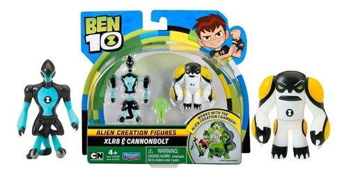Imagem 1 de 4 de Ben 10 - 2 Bonecos De Criação Alien - Xlr8 E Bala De Canhão