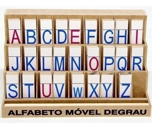 Alfabeto Móvel Degrau Letra De Forma Carlu Brinquedos