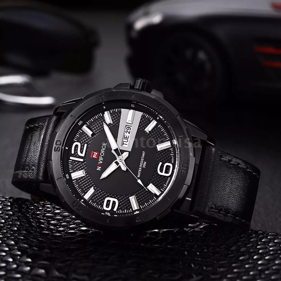 Relógio Masculino Naviforce Quartzo Q7e0 (preto)