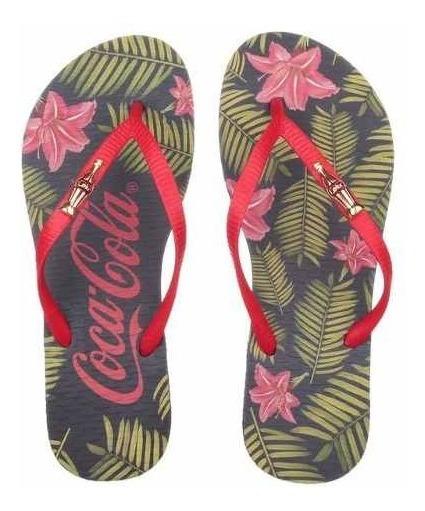 Chinelo Sandália Coca Cola Florwers Of Feminino Cc2492