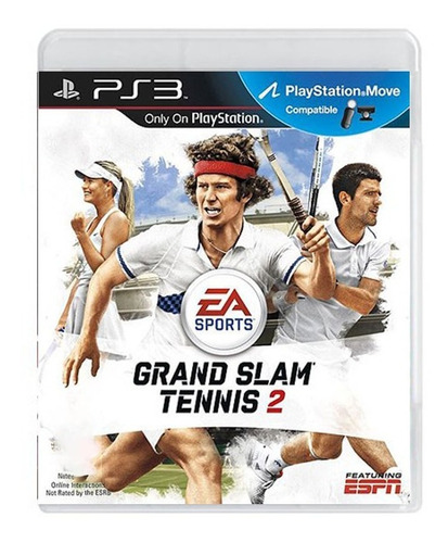 Grand Slam Tennis 2 - Ps3 - Original - Mídia Física